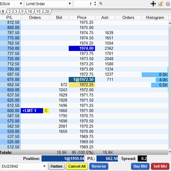 Esignal forex market depth